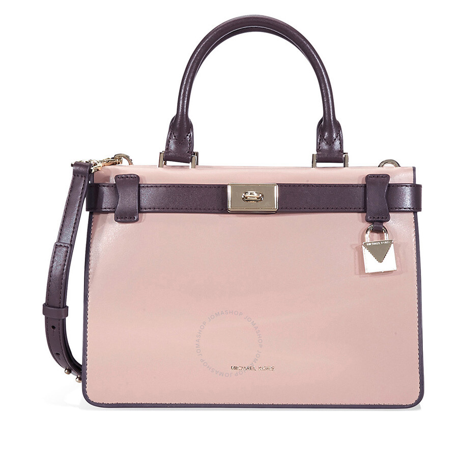 12c3e556c3 Michael Kors Tatiana Small Leather Satchel- Pink Purple Item No.  30F8TT0S1T-938