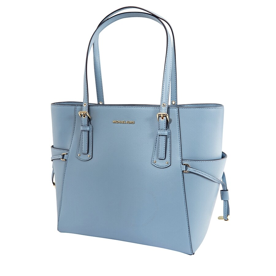 Michael Kors Textured Leather Tote Powder Blue