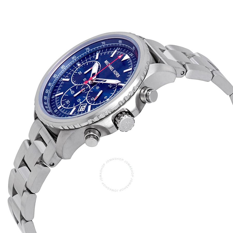 68f5c1b6a5a ... Michael Kors Theroux Chronograph Quartz Blue Dial Men's Watch MK8641 ...
