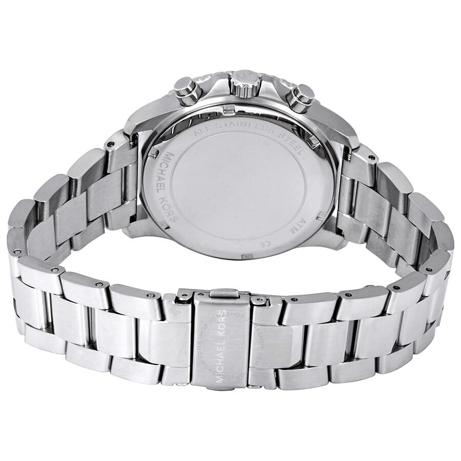 f9826379ae0 ... Michael Kors Theroux Chronograph Quartz Blue Dial Men's Watch MK8641