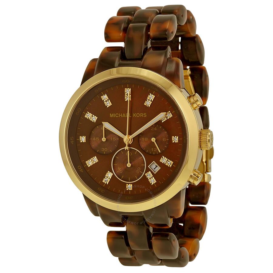 4419cf4f707 Michael Kors Tortoise Acrylic Brown Dial Ladies Watch Item No. MK5216