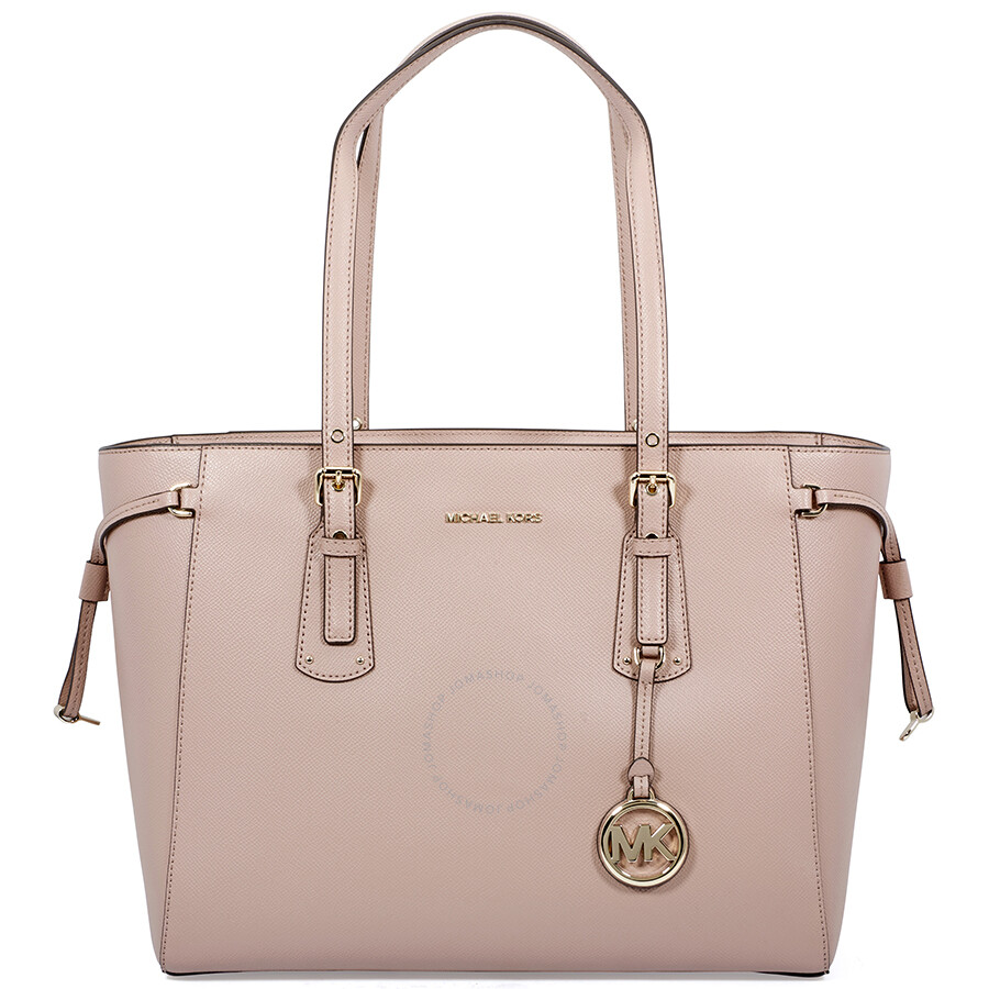 Michael Kors Voyager Medium Crossgrain Leather Tote- Fawn Item No.  30T8TV6T8L-133 9244d64cb79ff
