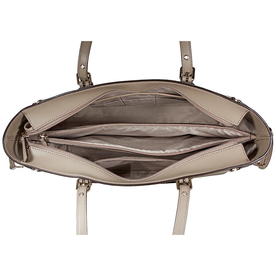 034bdf6e2e19 Michael Kors Voyager Medium Crossgrain Leather Tote- Truffle ...