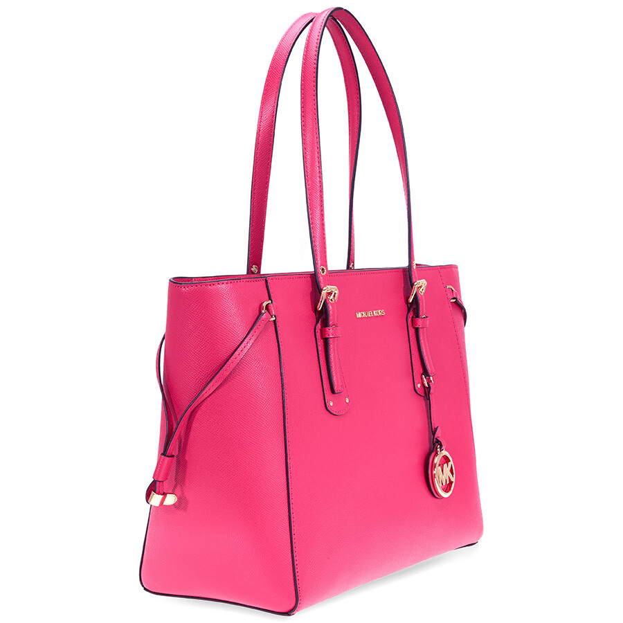Michael Kors Voyager Medium Multifunction Tote - Ultra Pink ... ace6d6eb7522f