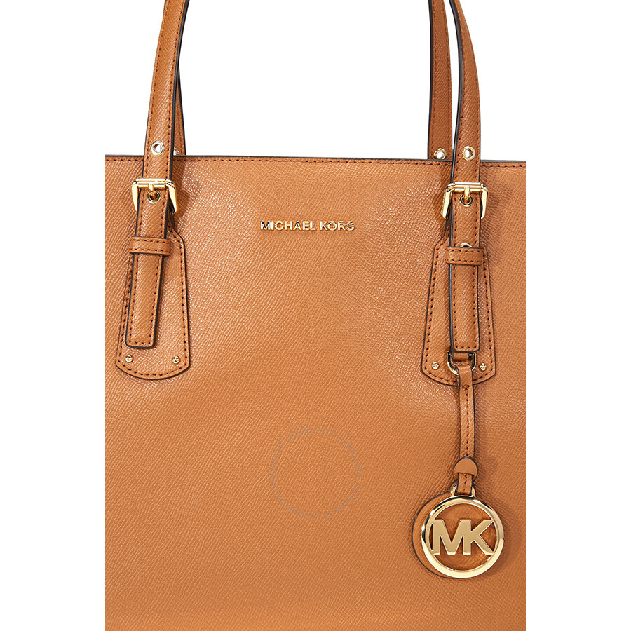40efe2963ade Michael Kors Voyager Medium Textured Leather Tote- Acorn - Michael ...