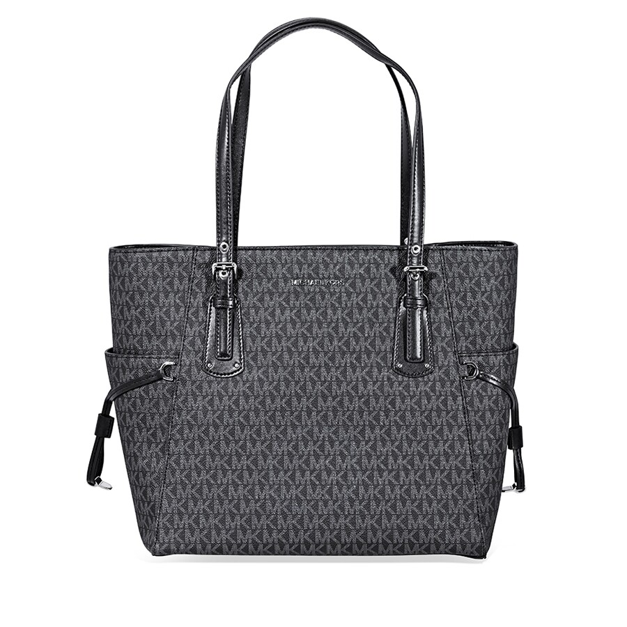 77a2e7999cd3 Michael Kors Voyager Signature Tote- Black - Michael Kors Handbags ...