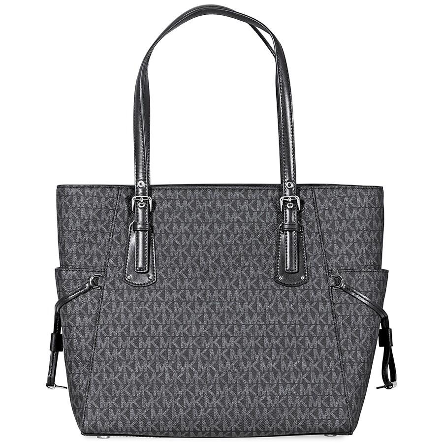 1cbdf928db9 Michael Kors Voyager Signature Tote- Black - Michael Kors Handbags ...