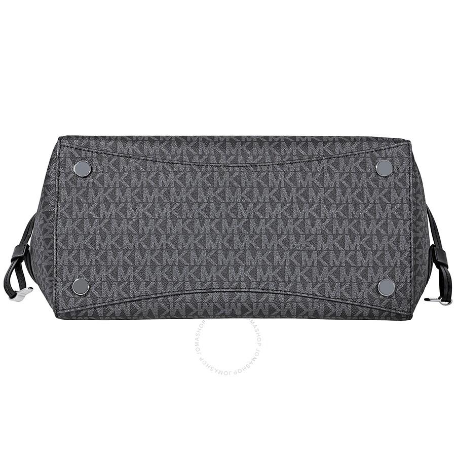 b9902fe778793 Michael Kors Voyager Signature Tote- Black - Michael Kors Handbags ...