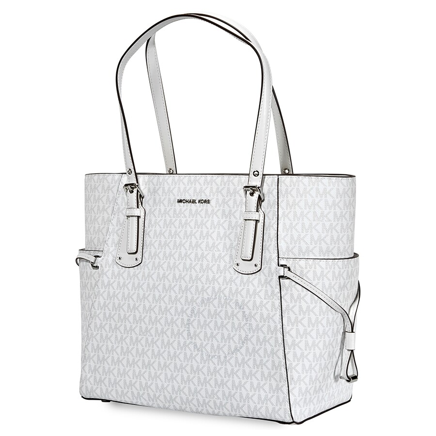 Michael Kors Voyager Signature Tote White