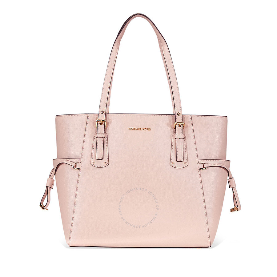 db911a5b6258bb Michael Kors Voyager Textured Crossgrain Leather Tote- Soft Pink Item No.  30H7GV6T9L-187