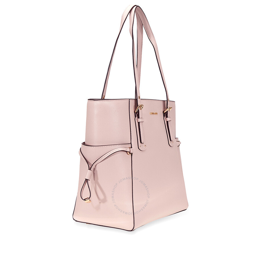 83523a8780cd Michael Kors Voyager Textured Crossgrain Leather Tote- Soft Pink ...