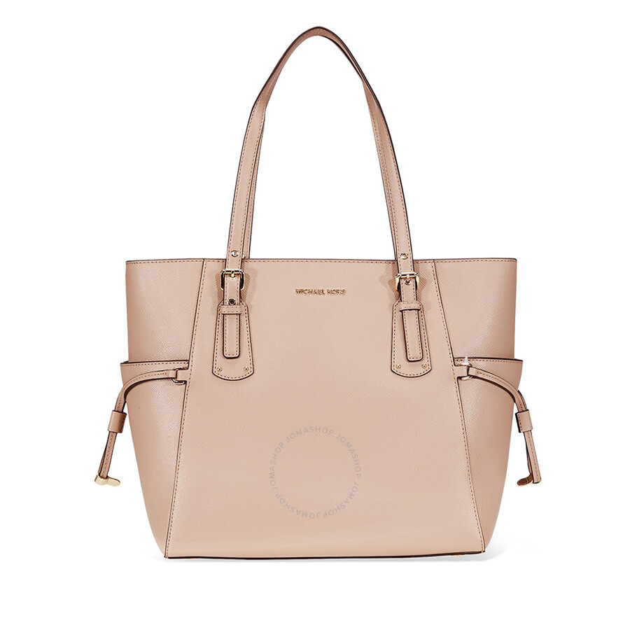 914caffb11c2c Michael Kors Voyager Textured Leather Tote- Fawn Item No. 30F8TV6T4L-133