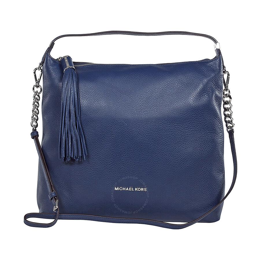 9810f99a8d4f Michael Kors Weston Shoulder Bag in Navy - Michael Kors Handbags ...
