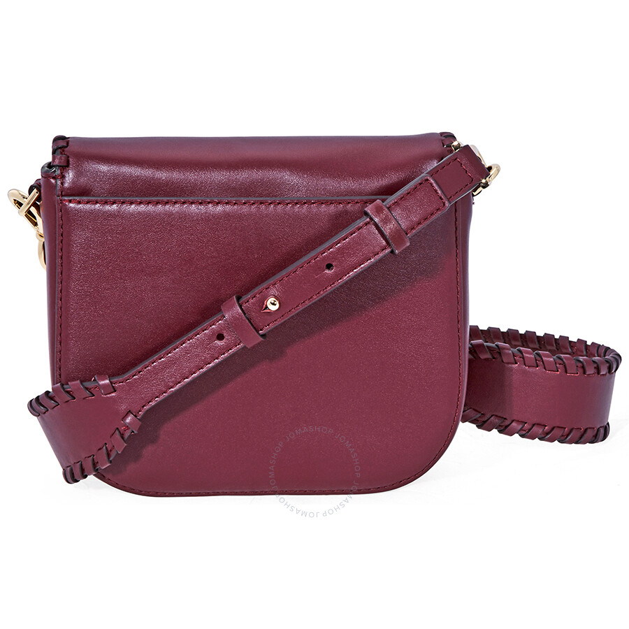 de57b8b0cd46 Michael Kors Whipstitched Leather Saddle Bag- Oxblood - Michael Kors ...