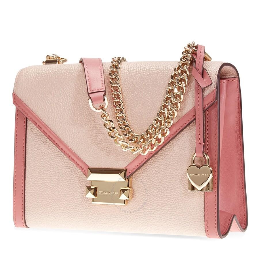 7c6967345e Michael Kors Whitney Large Flap Shoulder Bag- Soft Pink/Multi Item No.  30H8TWHL3O-612