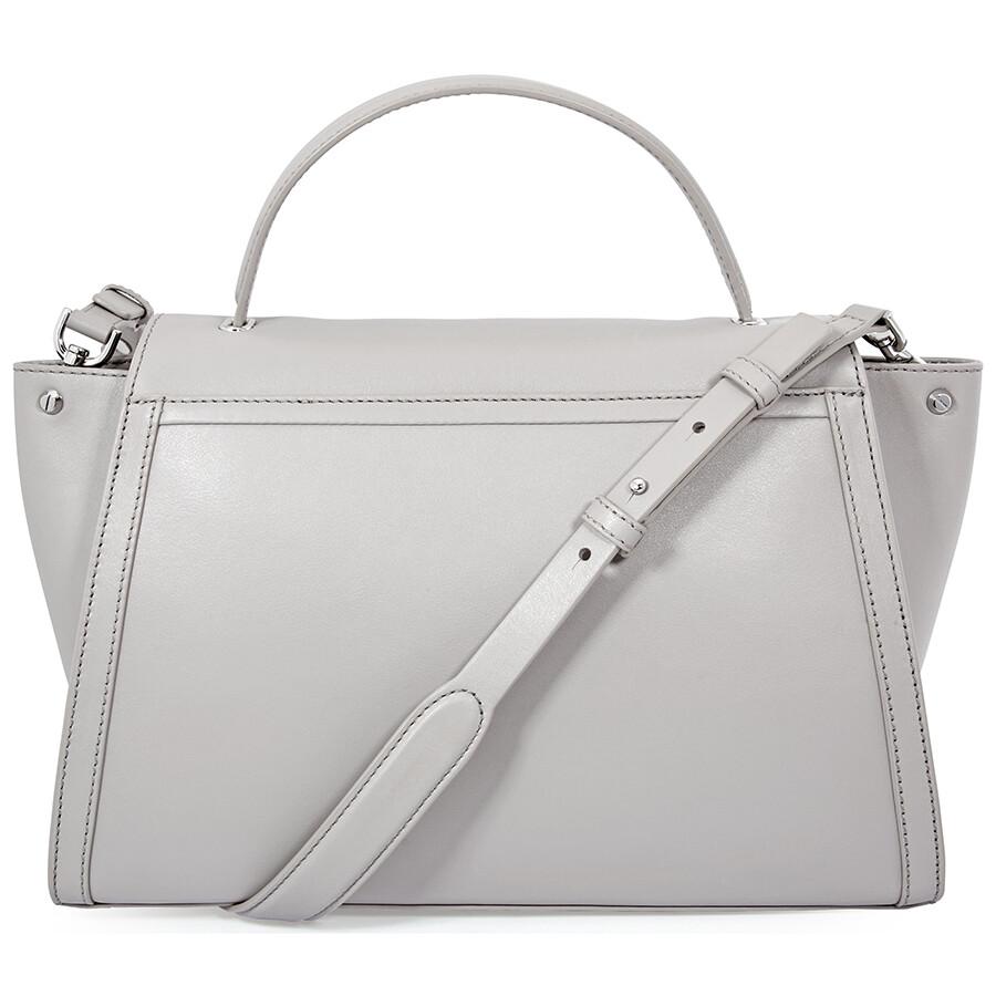 e4e9eb5f323f Michael Kors Whitney Large Leather Satchel - Pearl Grey - Michael ...