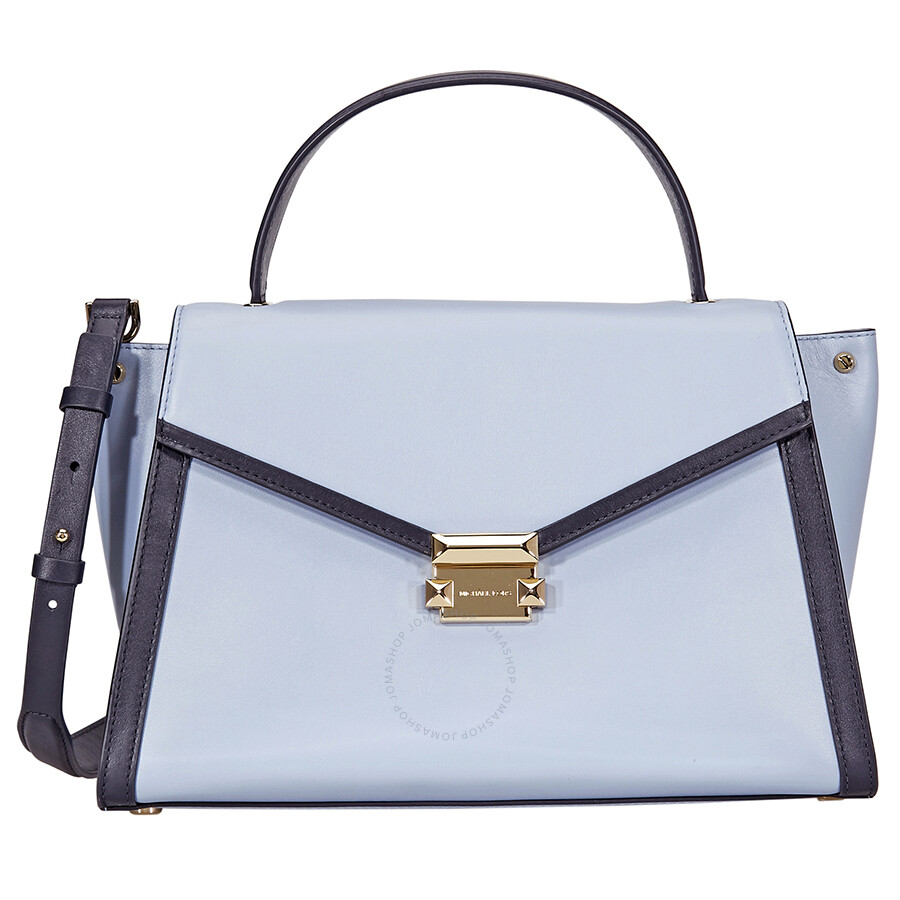 2e777bea3ab3 Michael Kors Whitney Large Leather Satchel- Pale Blue Admiral Item No.  30T8GXIS3T-409