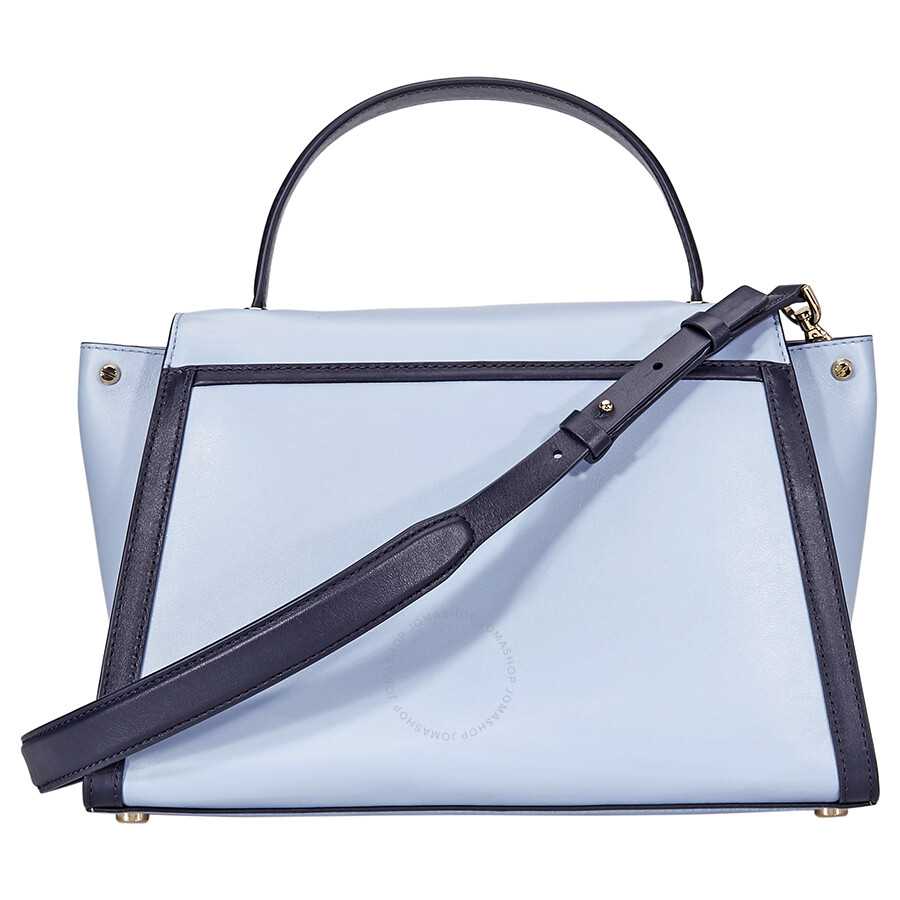 2074a5f93a5e Michael Kors Whitney Large Leather Satchel- Pale Blue Admiral ...