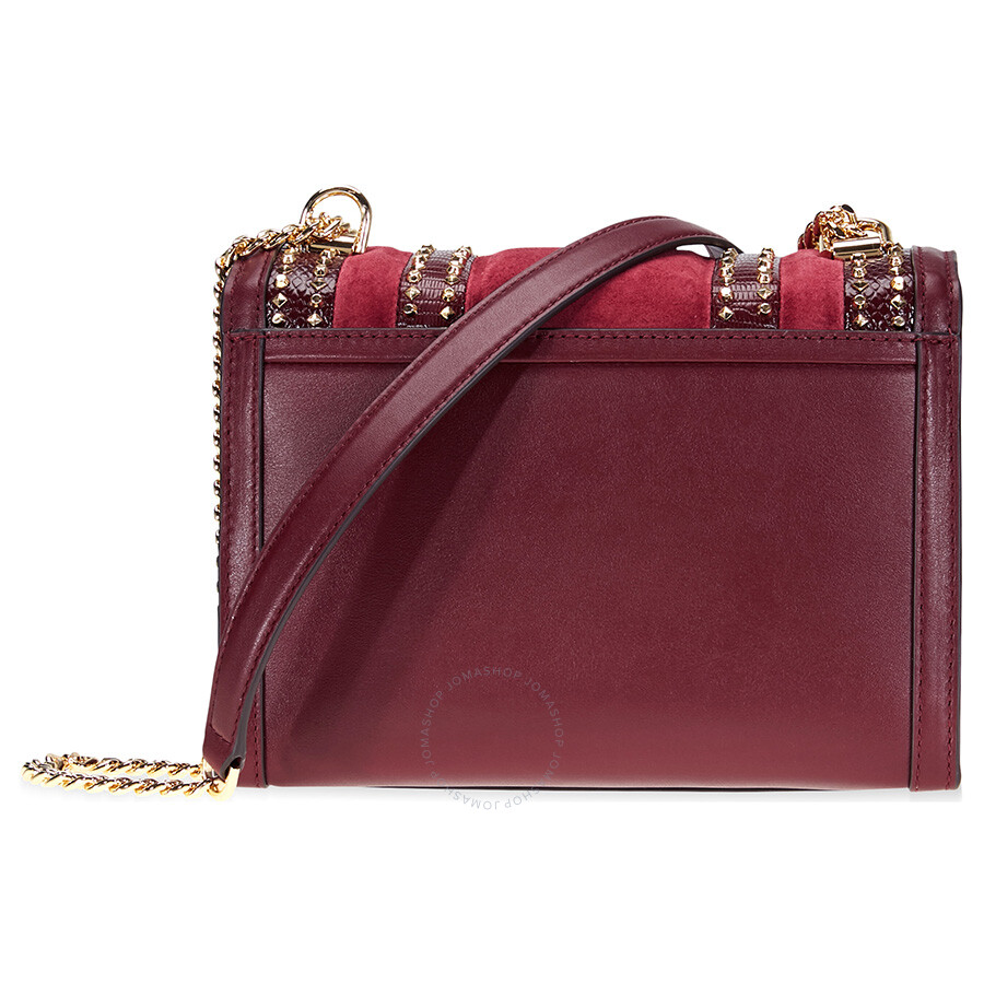 fce0236082db Michael Kors Whitney Large Mixed-Media Shoulder Bag- Red - Michael ...