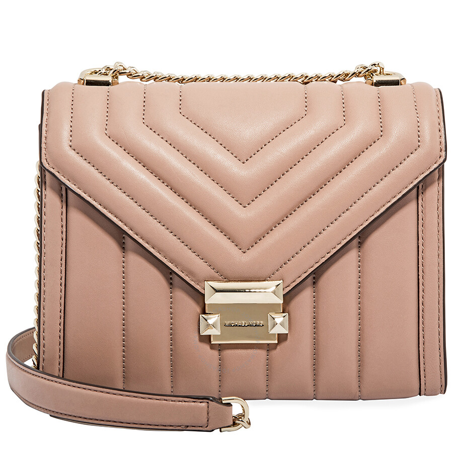acedd1d705629d Michael Kors Whitney Large Quilted Leather Shoulder Bag - Fawn Item No.  30F8TXIL3T-133