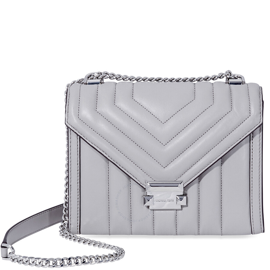 403395c18b7e85 Michael Kors Whitney Large Quilted Leather Shoulder Bag - Pearl Grey Item  No. 30F8SXIL3T-081