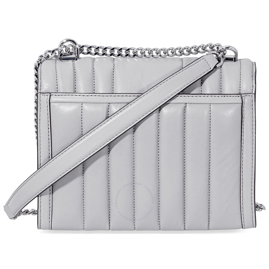 0cbb2c4d37eb Michael Kors Whitney Large Quilted Leather Shoulder Bag - Pearl Grey ...