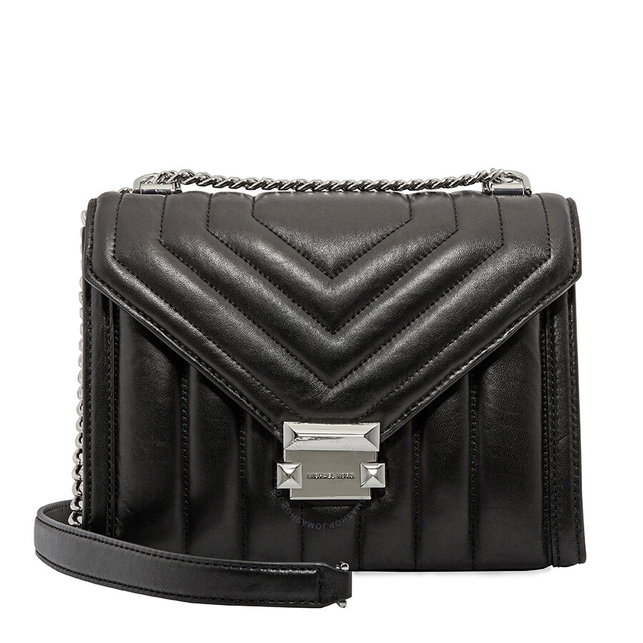 shop for genuine wholesale online new products Michael Kors Whitney Large Quilted Leather Shoulder Bag- Black
