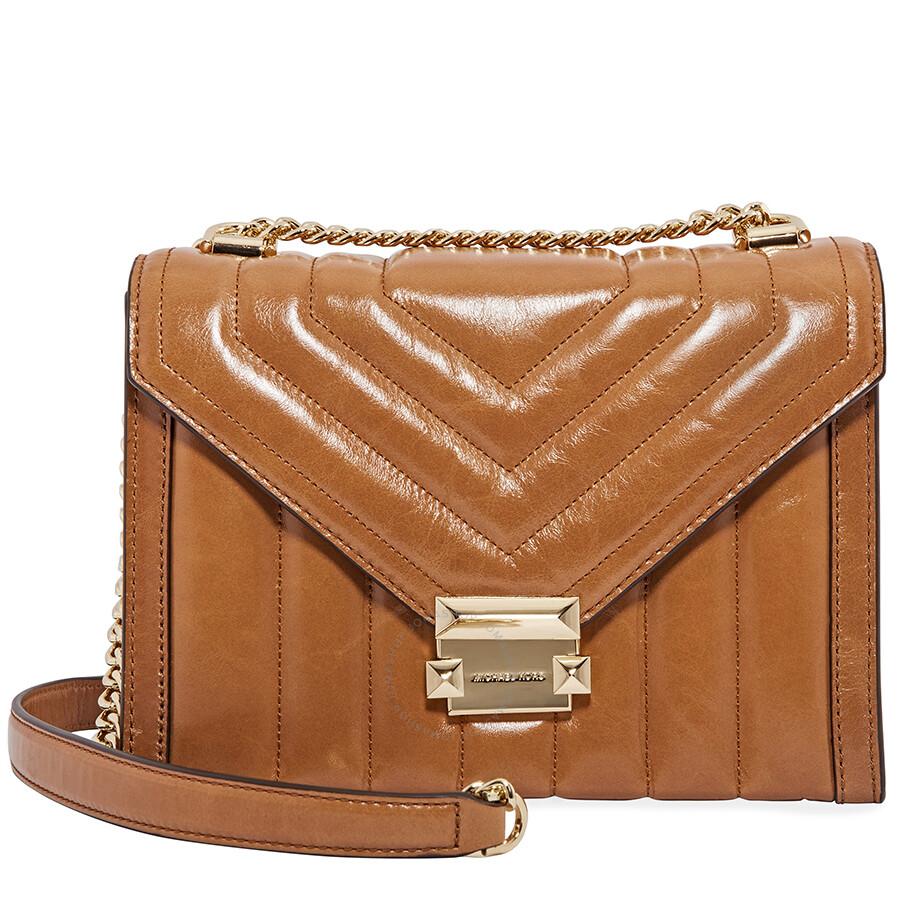 e1384e6bb2ef Michael Kors Whitney Large Quilted Leather Shoulder Bag-Acorn Item No.  30F8GXIL9T-203