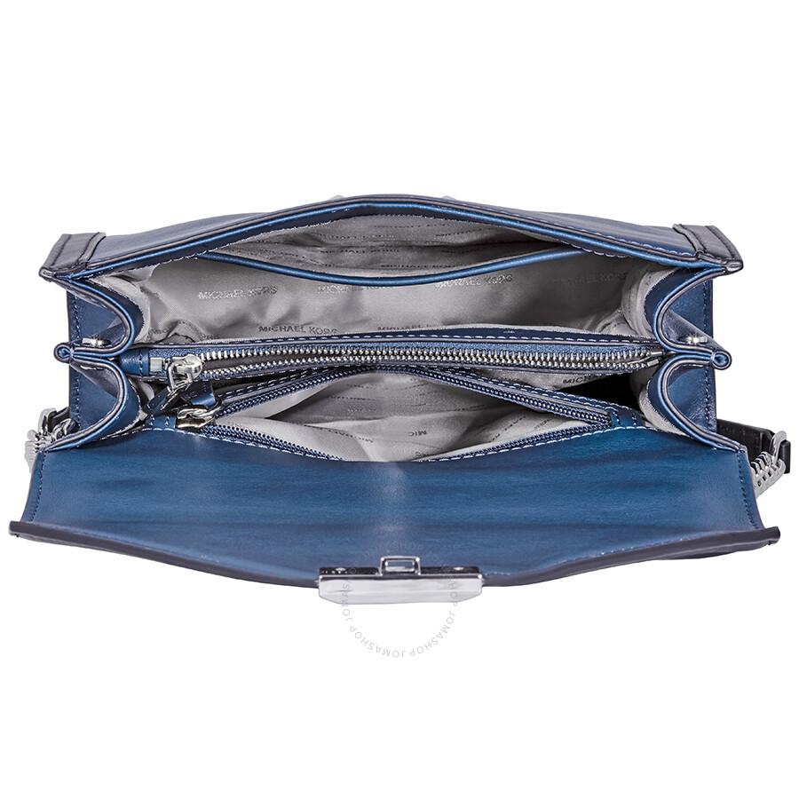 07eafdf94a1c Michael Kors Whitney Large Shoulder Bag- Blue Black - Michael Kors ...