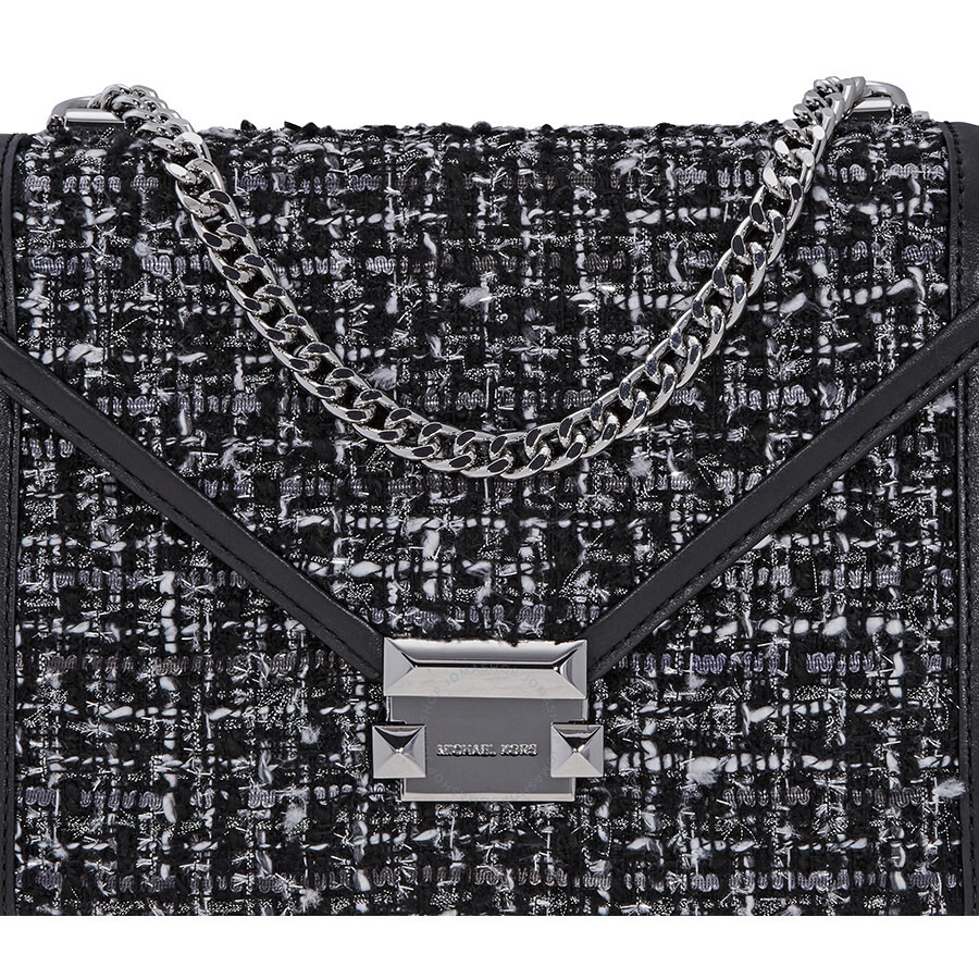 857831b155eaa2 Michael Kors Whitney Large Tweed Shoulder Bag - Black - Michael Kors ...