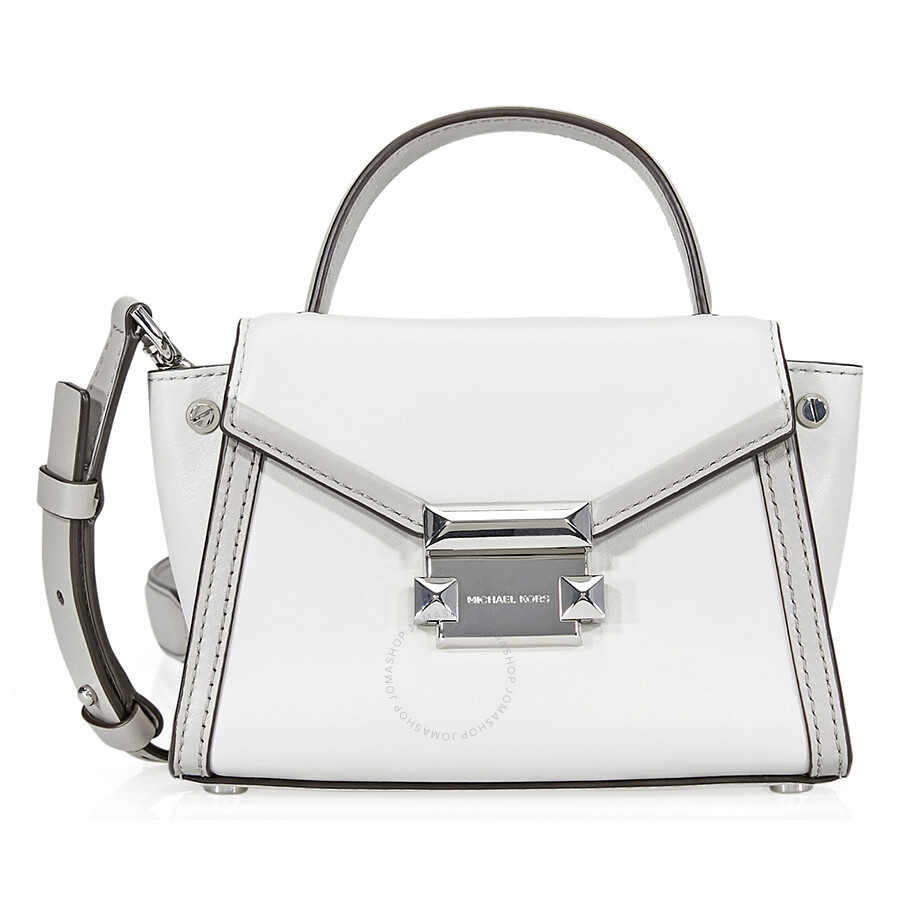 68c48fe46638 Michael Kors Whitney Leather Crossbody Bag- Aluminum/Pearl Grey Item No.  30T8SXIM1T-095