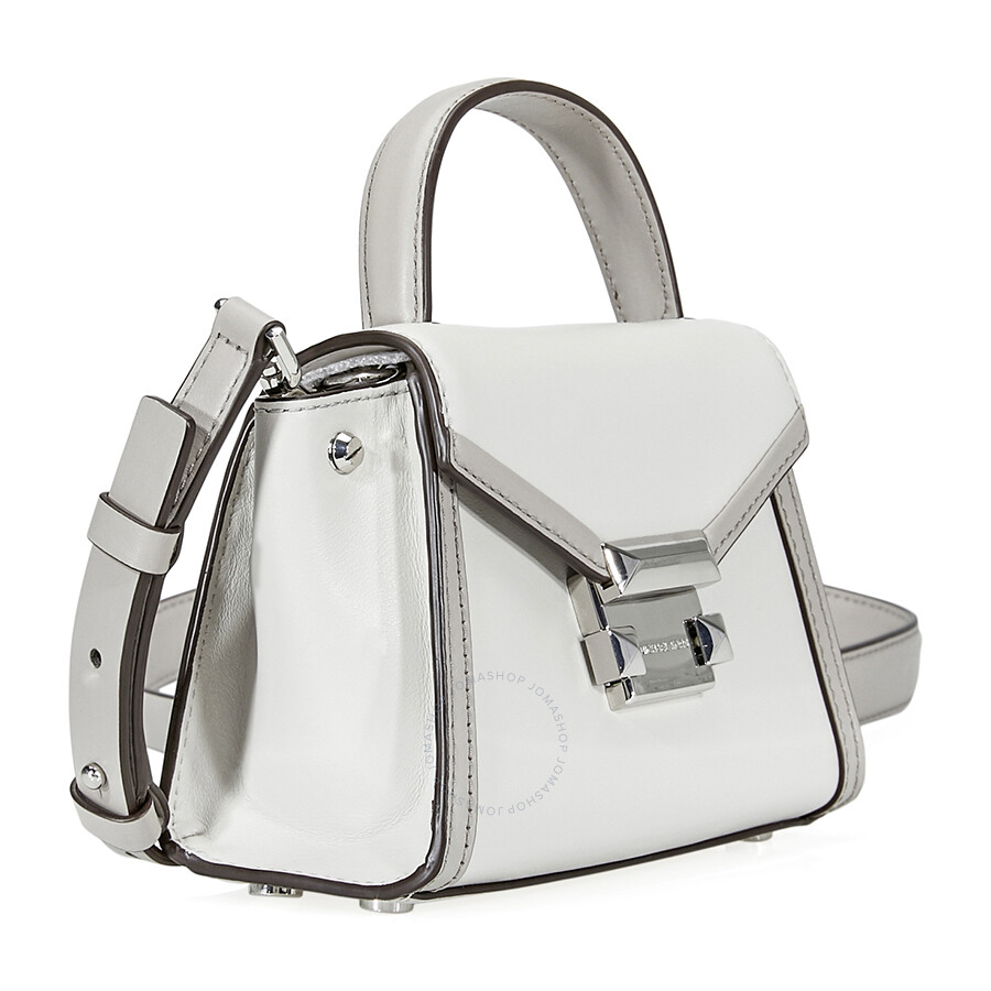 a1a139894ca1 Michael Kors Whitney Leather Crossbody Bag- Aluminum Pearl Grey ...