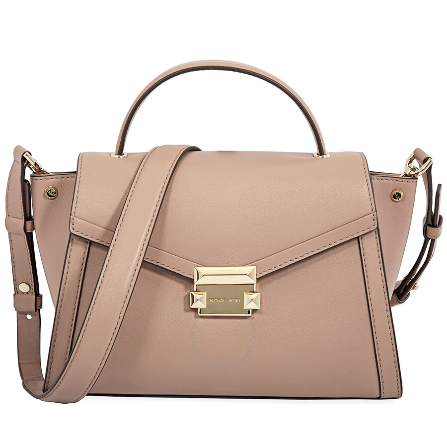 ba5da5877f4a Michael Kors Whitney Medium Leather Satchel - Fawn Item No. 30T8TXIS6L-133