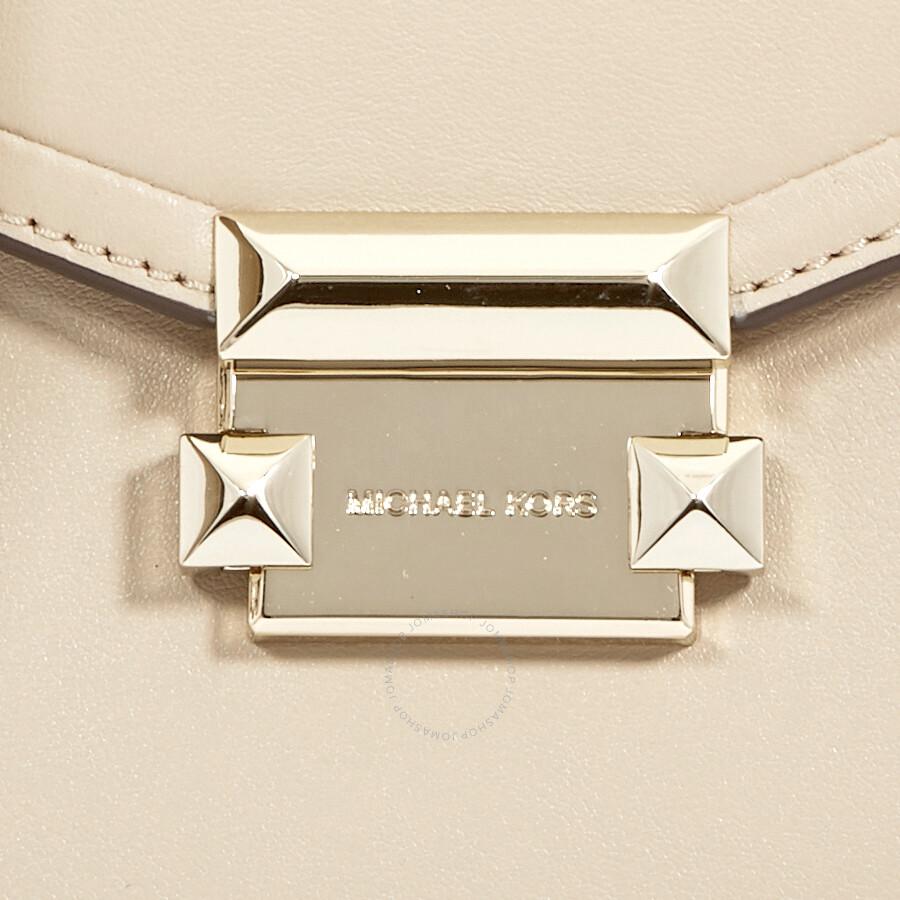 8a559c4ee Michael Kors Whitney Medium Leather Satchel - Oat - Michael Kors ...