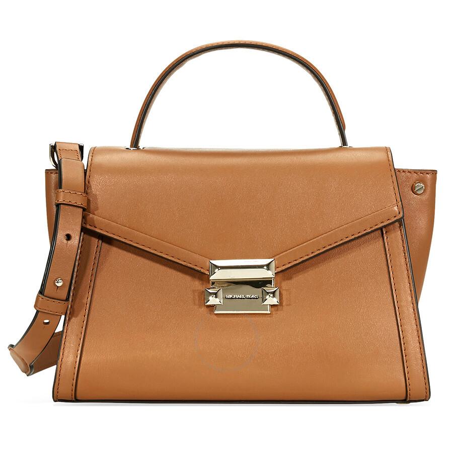 00c062fea910 ... amazon michael kors whitney medium leather satchel acorn f6e9d 0678b