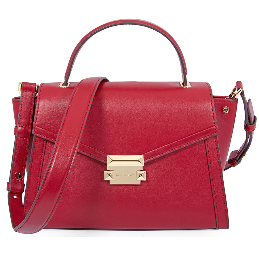 8fe9772ce930 Michael Kors Whitney Medium Leather Satchel- Maroon Item No. 30T8GXIS2L-550