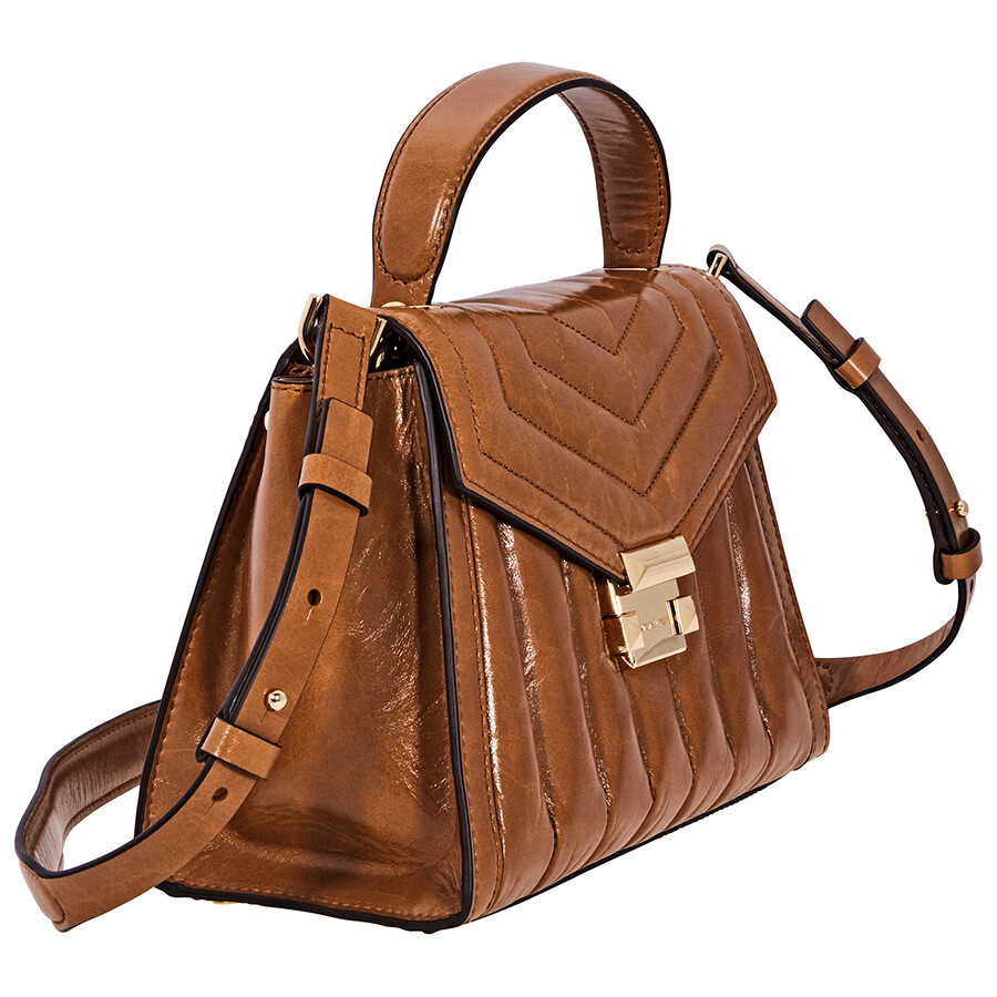 ddaeccb39ca3 Michael Kors Whitney Medium Quilted Leather Satchel - Acorn ...