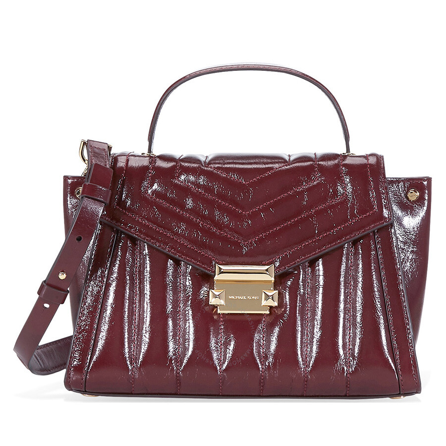 1925e2ce1796 Michael Kors Whitney Medium Quilted Leather Satchel- Oxblood Item No.  30F8GXIS6T-610