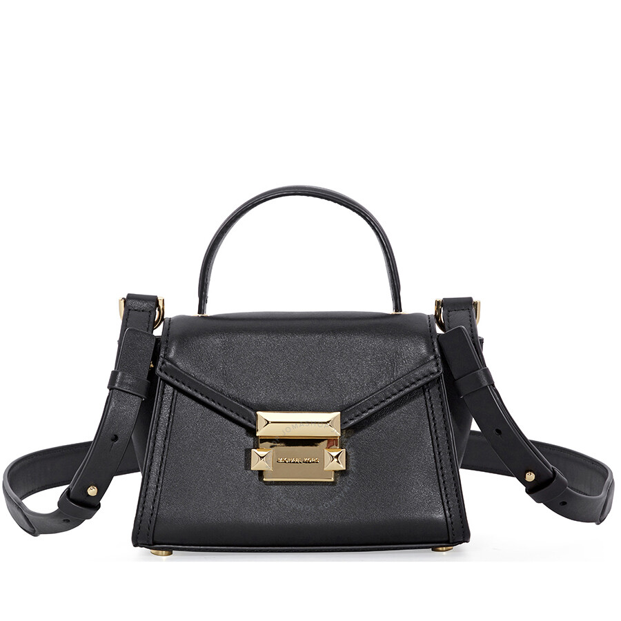 28ca5f4d7e934 Michael Kors Whitney Mini Leather Satchel - Black Item No. 30T8GXIM1L-001