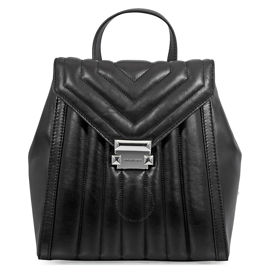 Michael Kors Whitney Quilted Leather Backpack Black
