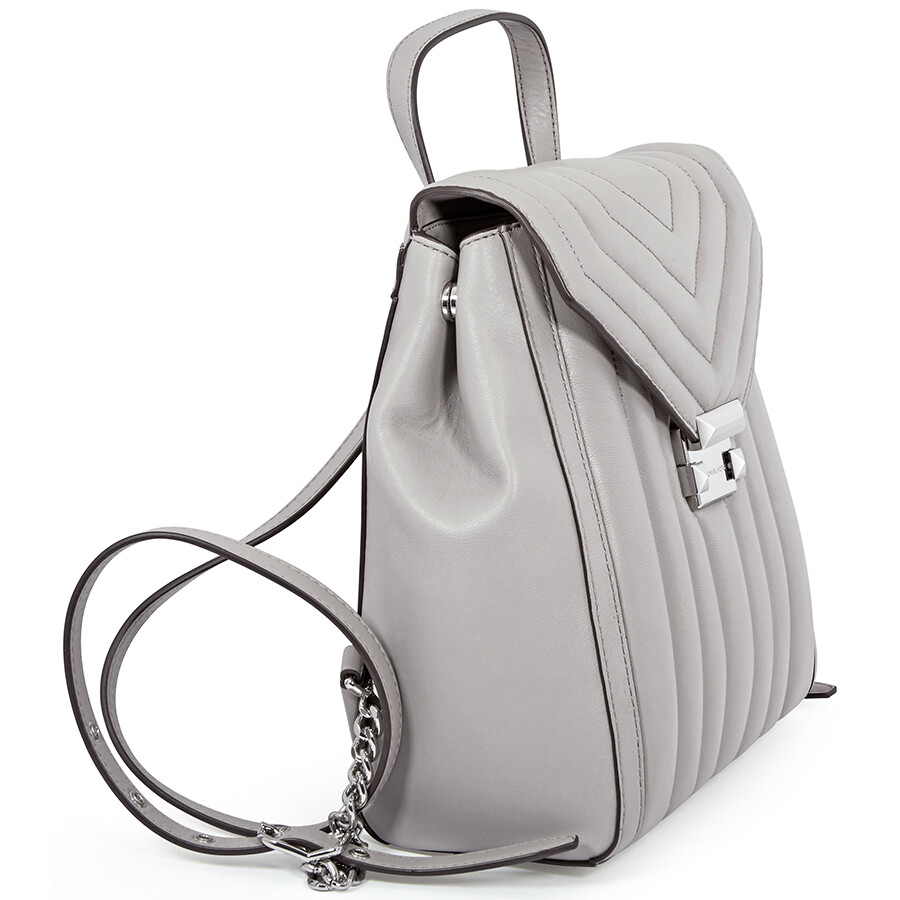 b05642448d0f Michael Kors Whitney Quilted Leather Backpack- Pearl Grey - Michael ...