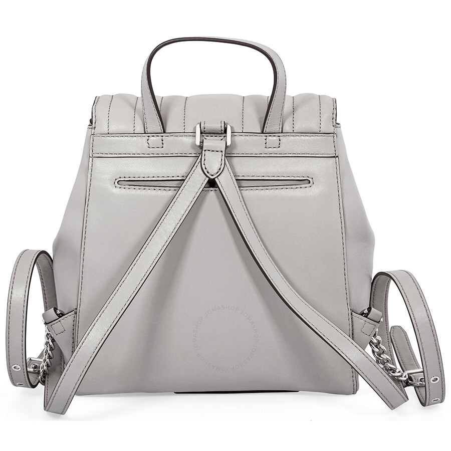 728710601592 Michael Kors Whitney Quilted Leather Backpack- Pearl Grey - Michael ...