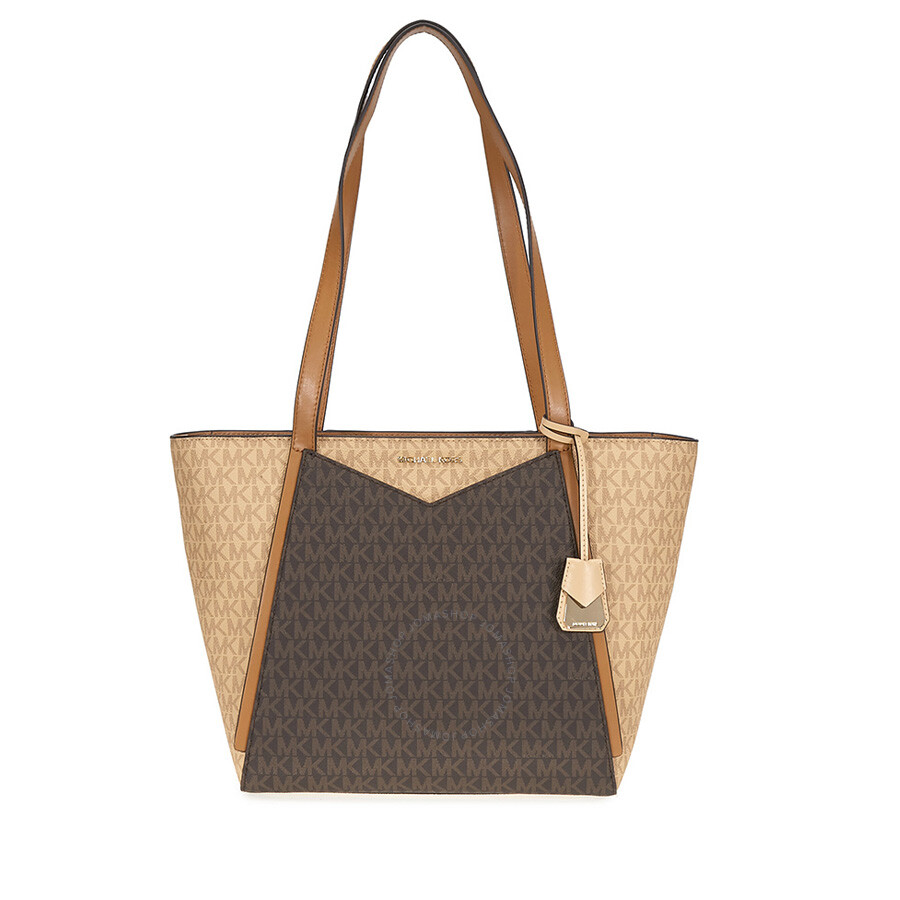 c3be5150fcaf0 Michael Kors Whitney Signature Logo Tote - Brown Acorn Item No.  30S8GN1T1B-262