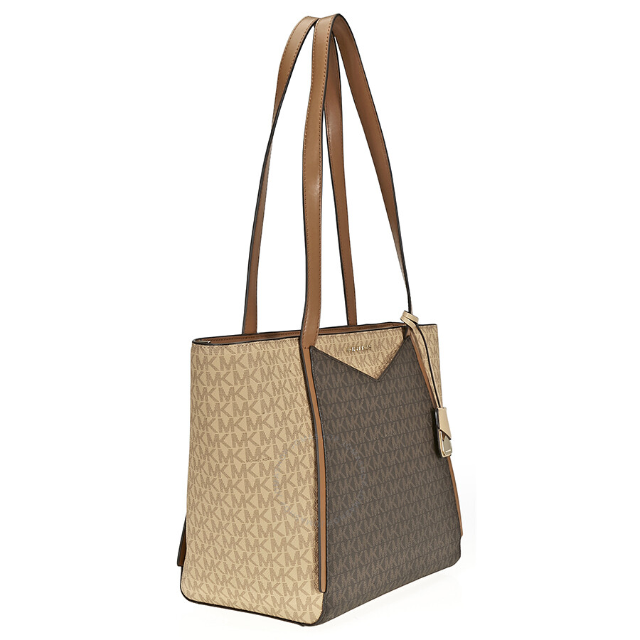 9a4ccdc736f66 Michael Kors Whitney Signature Logo Tote - Brown Acorn - Michael ...