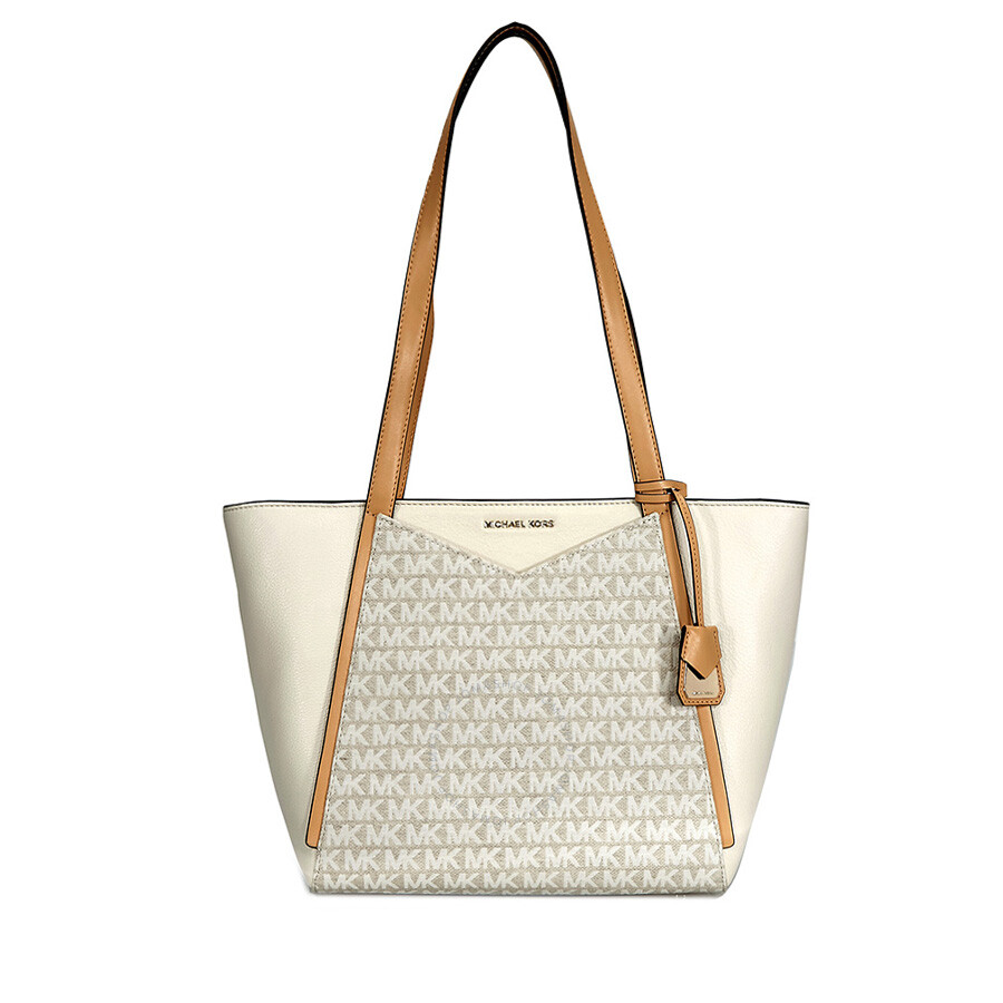 Michael Kors Whitney Small Leather Tote Natural Ernut