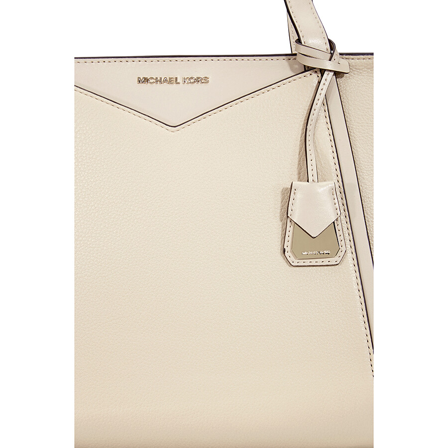 b10e7aff8 Michael Kors Whitney Small Leather Tote- Oat - Michael Kors Handbags ...