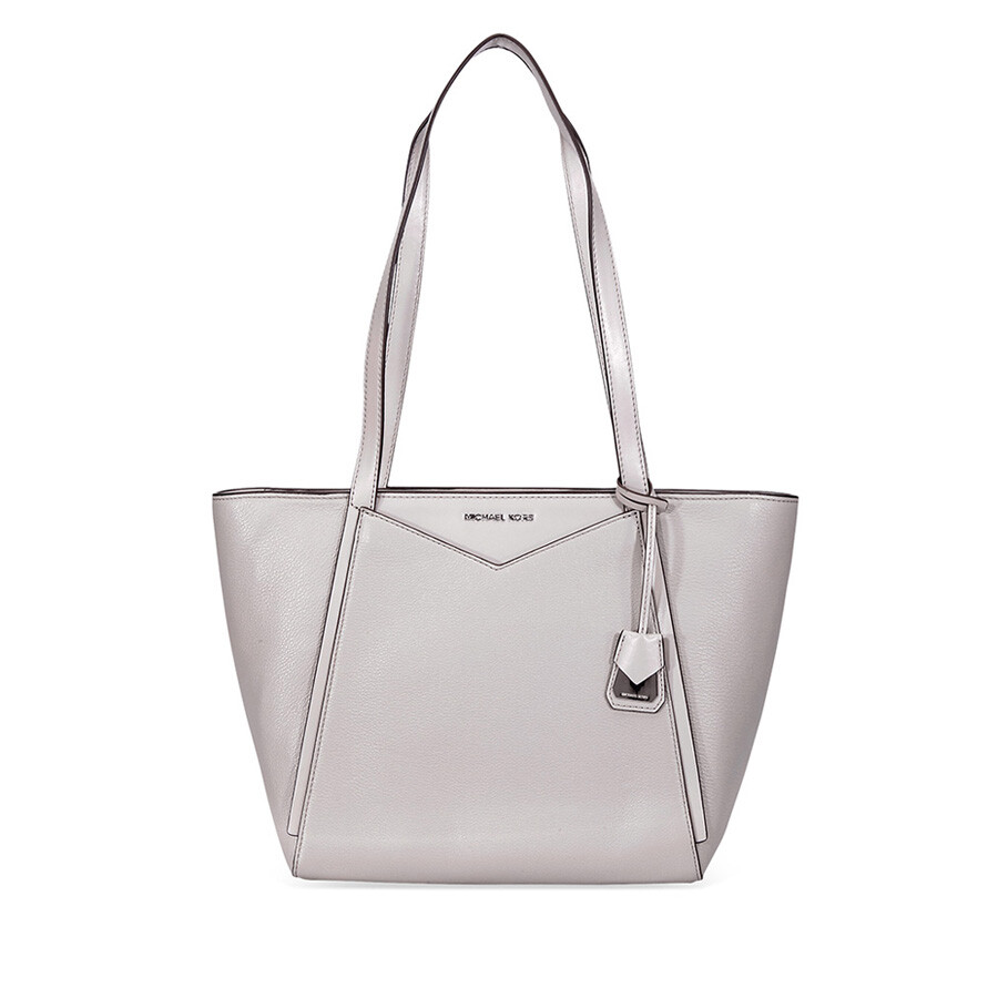 Michael Kors Whitney Small Leather Tote Pearl Grey
