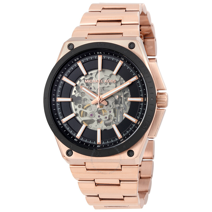michael kors rose gold men watches best watchess 2017 michael kors wilder rose gold tone automatic men s watch mk9022