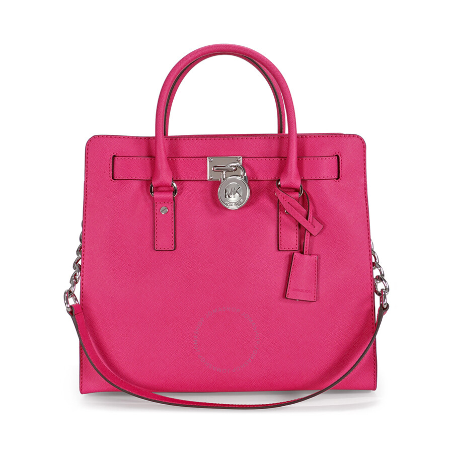 f836a7d48939 Michael Kors Hamilton Large Leather Tote - Raspberry - Sutton ...