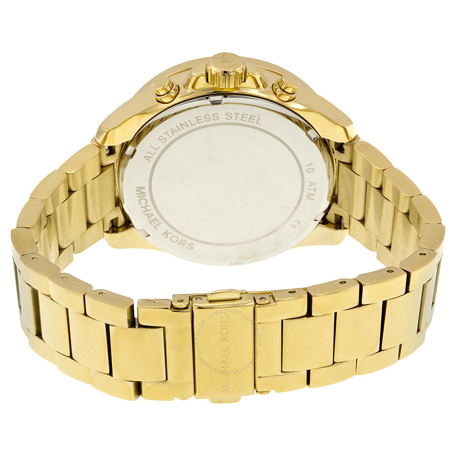 ... Michael Kors Wren Chronograph Blue Crystal Pave Gold-tone Ladies Watch MK6291